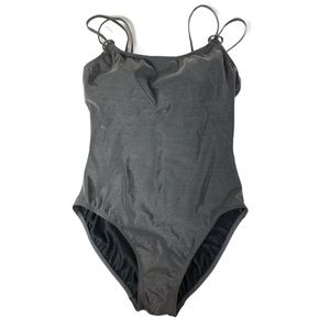 Liz Claiborne Metallic Glittery Onepiece Swim Suit